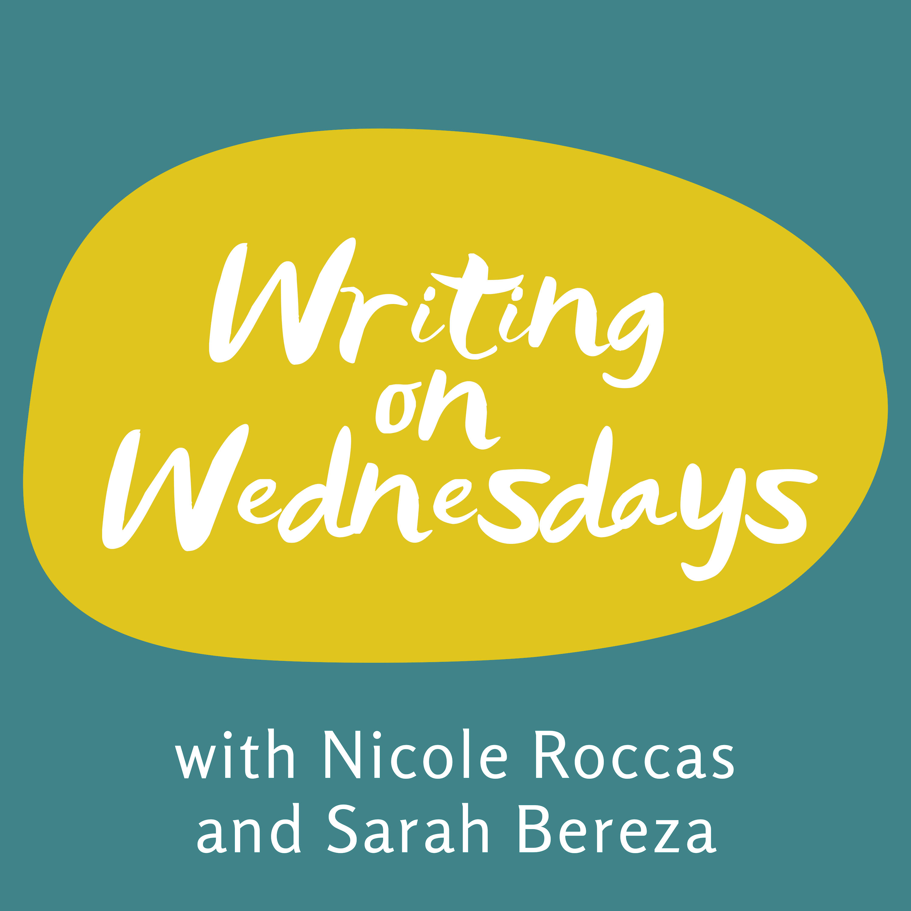 Writing on Wednesdays title cover with Sarah Bereza and Nicole Roccas