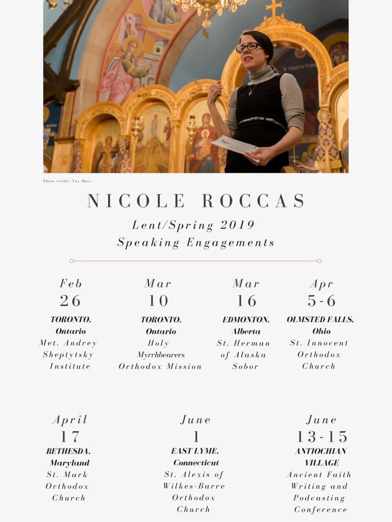 My Spring Speaking Schedule - Nicole M  Roccas