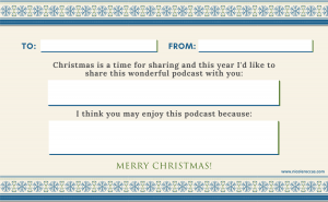 Podcast gift certificate