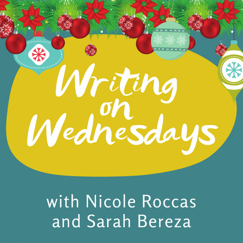 Writing on Wednesdays festive cover with ornaments