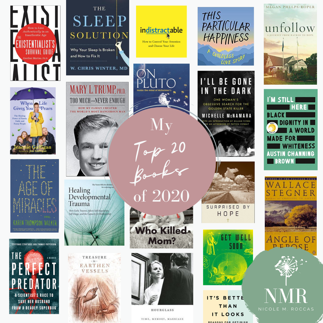 The 20 covers of the 20 best books i Read in 2020